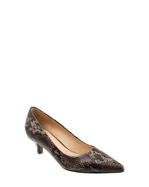 Trotters | Brown 'paulina' Leather Pump | Lyst