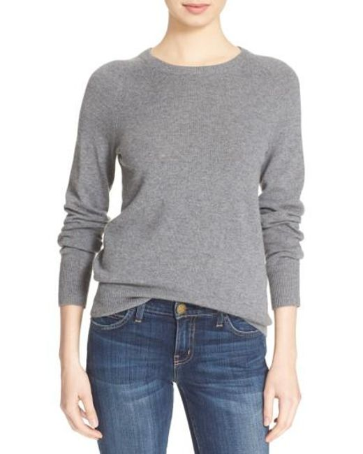 Equipment | Gray 'sloane' Crewneck Cashmere Sweater | Lyst