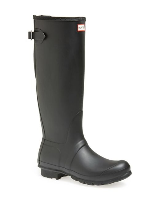 Hunter | Black Adjustable Calf Rain Boot | Lyst