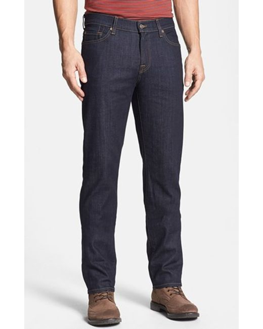 7 For All Mankind | Blue 7 For All Mankind 'slimmy' Slim Fit Jeans for Men | Lyst