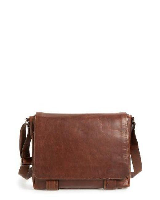 Frye   Brown 'logan' Messenger Bag for Men   Lyst