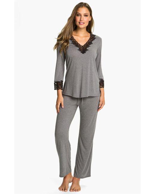 Natori | Gray 'lhasa' Pajamas | Lyst