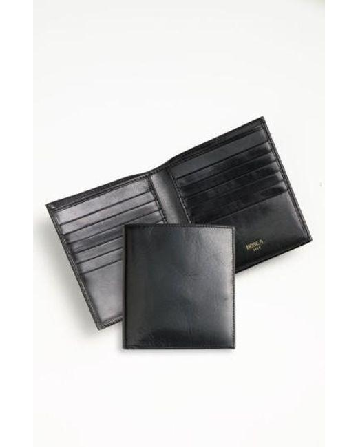 Bosca | Black 'old Leather' Credit Wallet for Men | Lyst