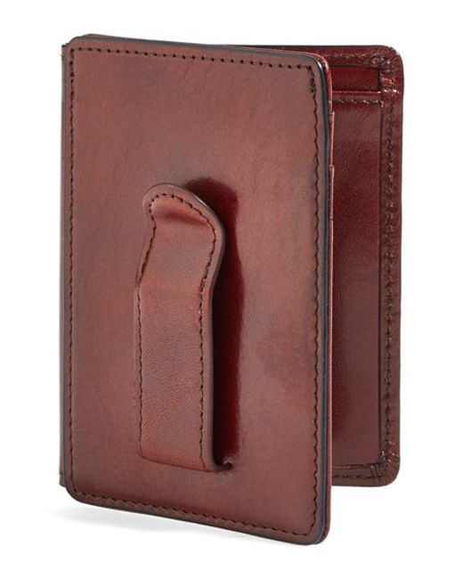 Bosca | Brown 'old Leather' Front Pocket Id Wallet for Men | Lyst