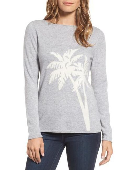 Tommy Bahama | Gray Island Palm Intarsia Cashmere Pullover | Lyst