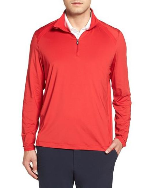 Cutter & Buck | Red Williams Half Zip Pullover for Men | Lyst