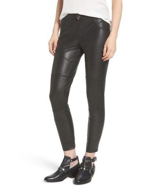 Hue | Black Moto Leatherette Skimmer Leggings | Lyst