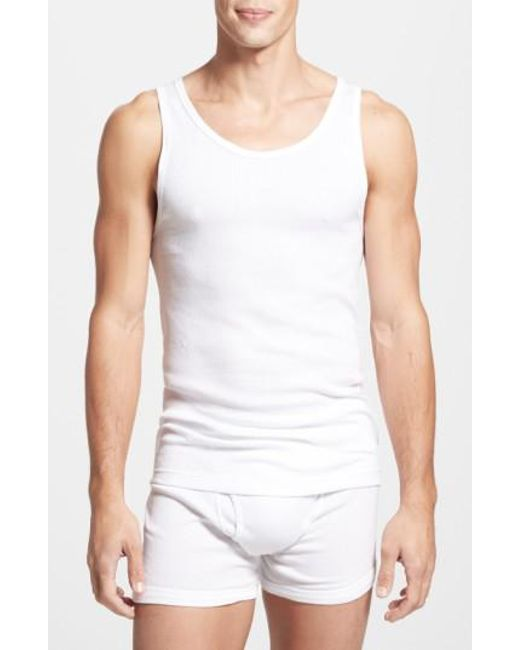 Calvin Klein   Classic Fit 3-pack Cotton Tank Top, White for Men   Lyst
