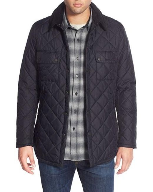 Barbour | Black 'akenside' Regular Fit Quilted Jacket for Men | Lyst