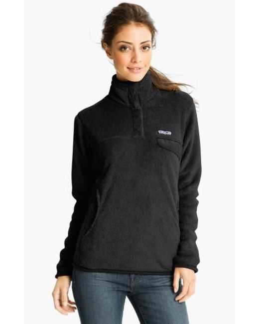 Patagonia   Black 're-tool' Snap Pullover   Lyst