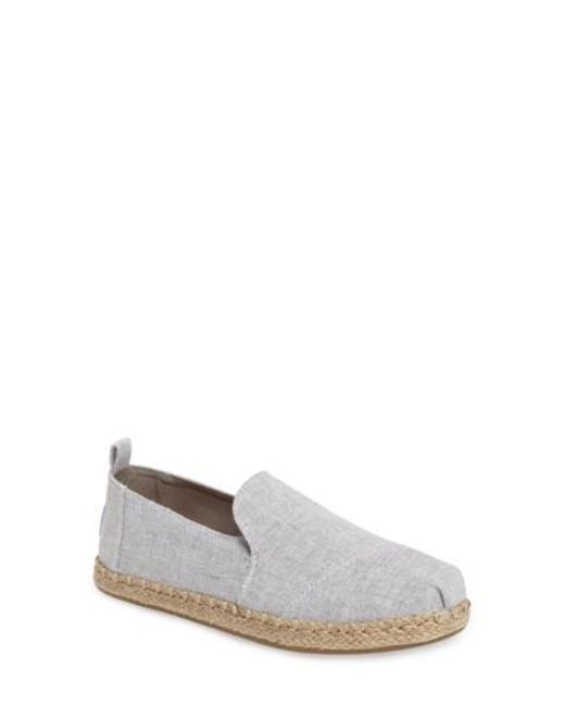 TOMS | Gray Espadrille Slip-on | Lyst
