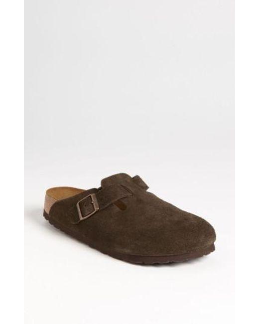 Birkenstock | Brown 'boston' Soft Footbed Clog | Lyst