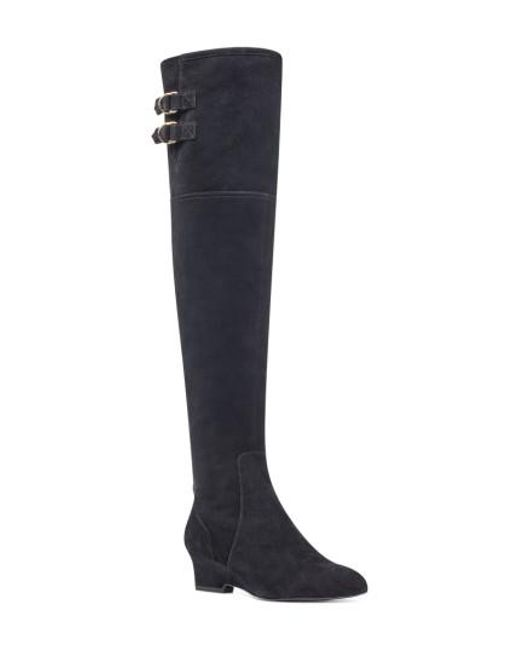 Nine West | Black Jaen Over The Knee Boot | Lyst