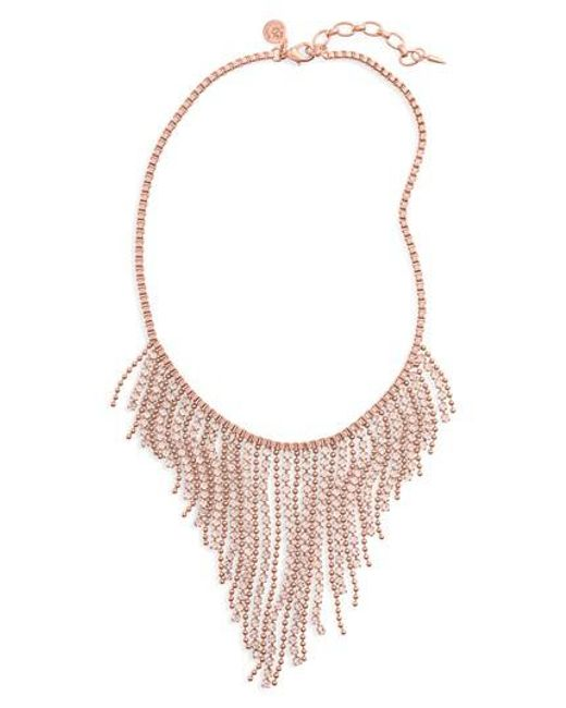 Loren Hope | Pink Joanna Frontal Necklace | Lyst