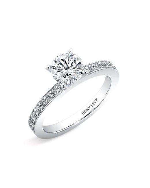 Bony Levy | White Channel Set Diamond Engagement Ring Setting (nordstrom Exclusive) | Lyst