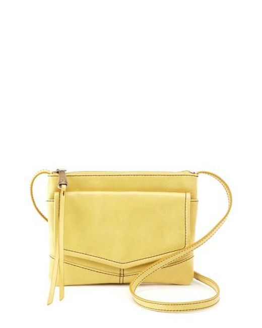 eac8306b6f3f Lyst - Hobo Amble Leather Crossbody Bag in Yellow