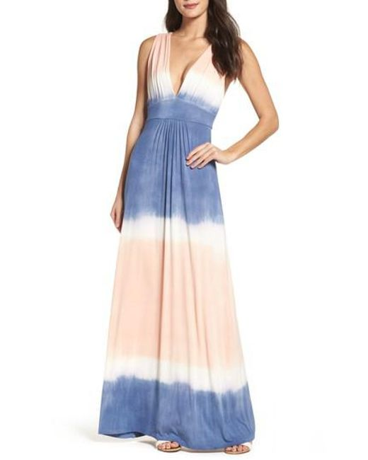 Fraiche By J - Multicolor Tie Dye Sleeveless Maxi Dress - Lyst