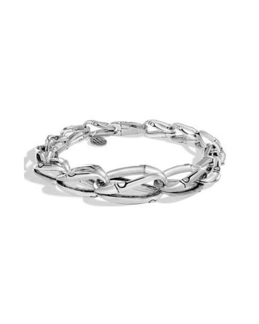 John Hardy   Metallic Bamboo Tapered Link Bracelet   Lyst