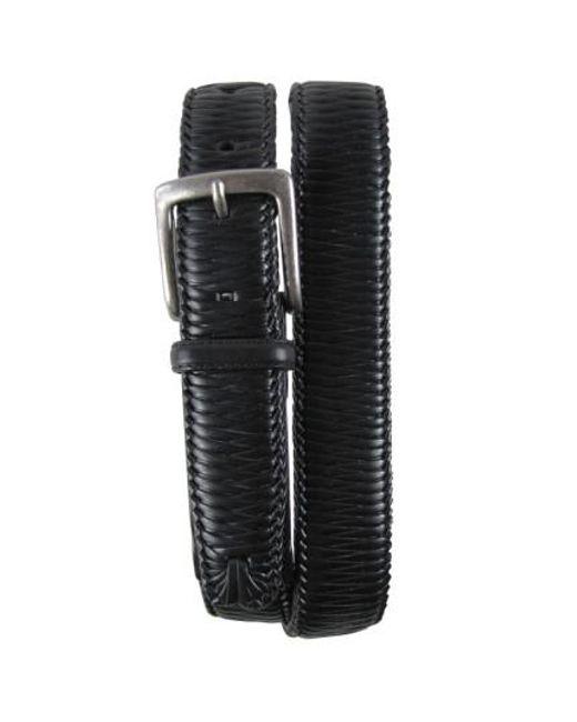 Tommy Bahama - Black 'largo' Woven Leather Belt for Men - Lyst