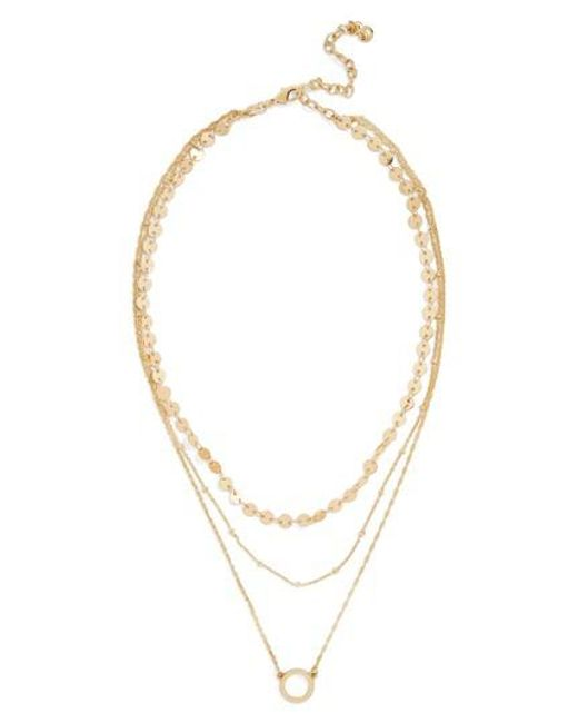 BaubleBar - Metallic Adrielle Triple Strand Necklace - Lyst