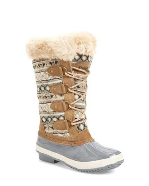 Khombu | Gray Andie Waterproof Boots | Lyst