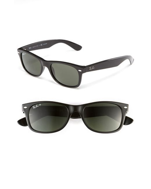 Ray-Ban | Black 'new Small Wayfarer' 52mm Polarized Sunglasses | Lyst