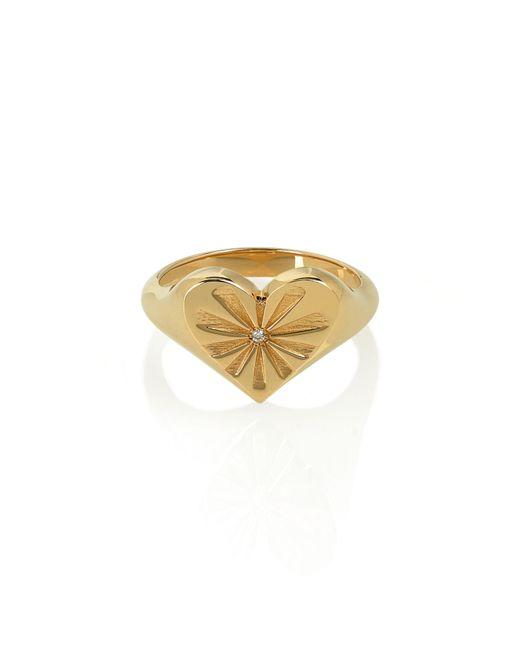 Marlo Laz - Metallic Heart Pinky Ring - Lyst
