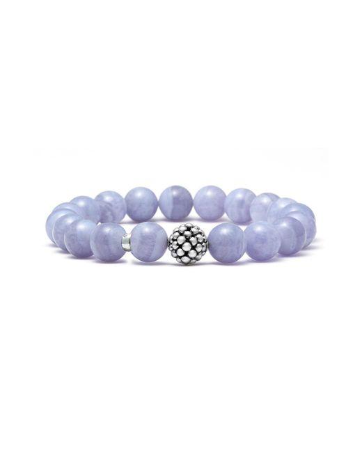 Lagos - Blue Bead Stretch Bracelet - Lyst