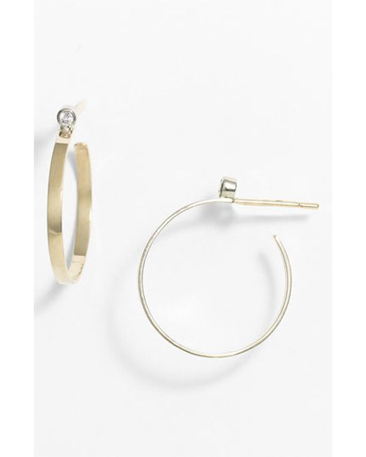 Lana Jewelry | Yellow Diamond Hoop Earrings | Lyst
