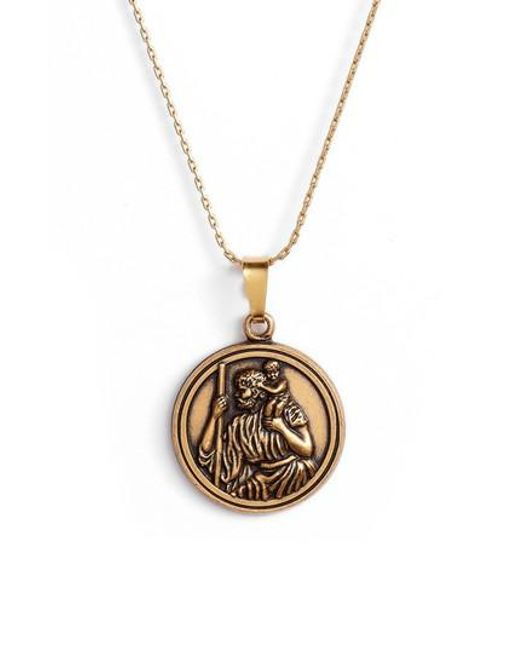 Lyst alex and ani saint christopher pendant necklace in metallic alex and ani metallic saint christopher pendant necklace lyst aloadofball Gallery