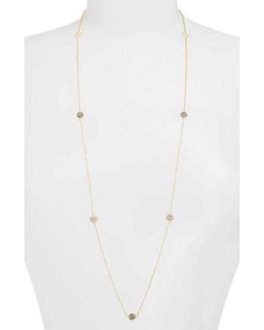 Judith Jack | Metallic Long Illusion Necklace | Lyst
