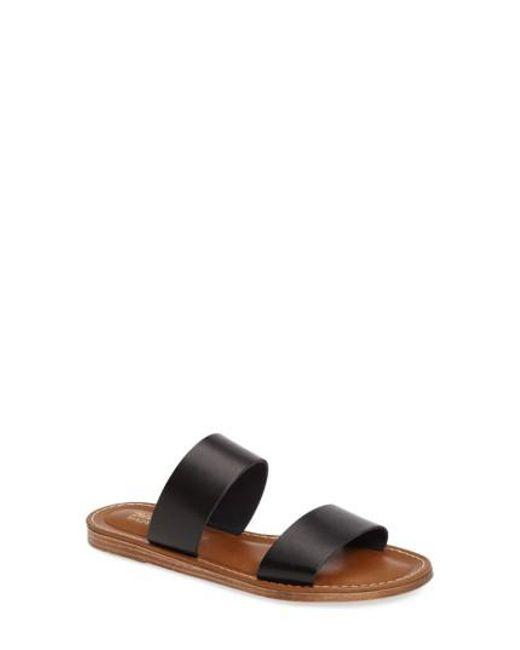 Bella Vita | Black Imo Slide Sandal | Lyst