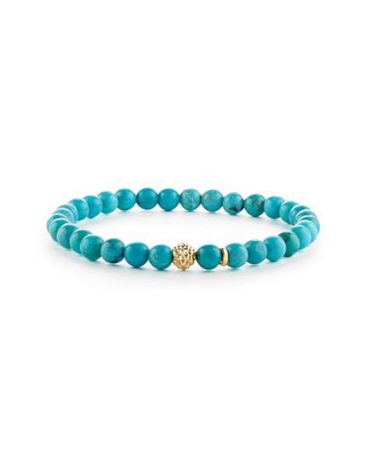 Lagos | Blue 'caviar Icon' Semiprecious Stone Bracelet | Lyst