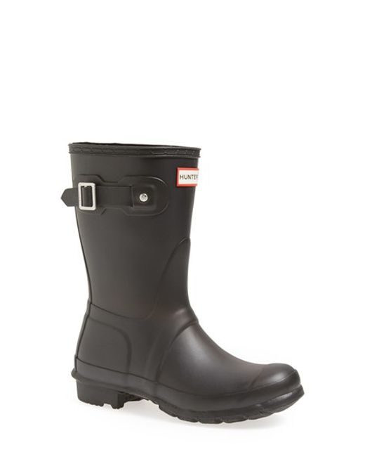 Hunter | Black 'original Short' Rain Boot | Lyst