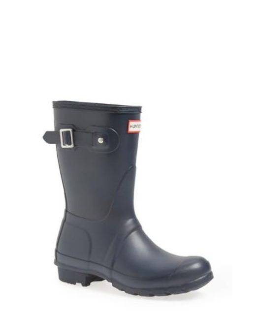 Hunter | Blue 'original Short' Rain Boot | Lyst