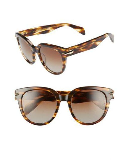 24b84cdd0b9fa Lyst - Rag   Bone 54mm Round Sunglasses -