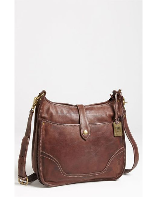 Frye | Brown 'campus' Leather Crossbody Bag | Lyst