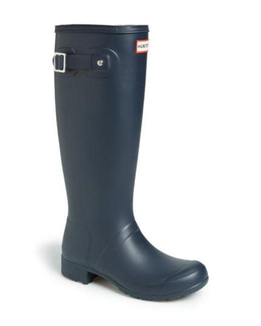 Hunter | 'tour' Packable Rain Boot, Blue | Lyst