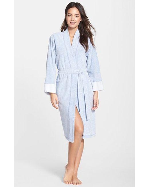 Natori | Blue 'nirvana' Midi Robe | Lyst