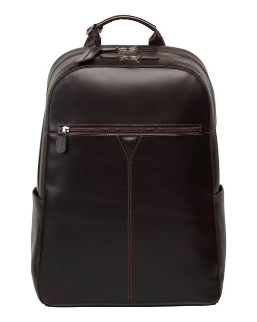 Johnston & Murphy - Black Leather Backpack for Men - Lyst
