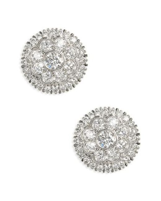 Kwiat - Metallic Diamond Stud Earrings - Lyst