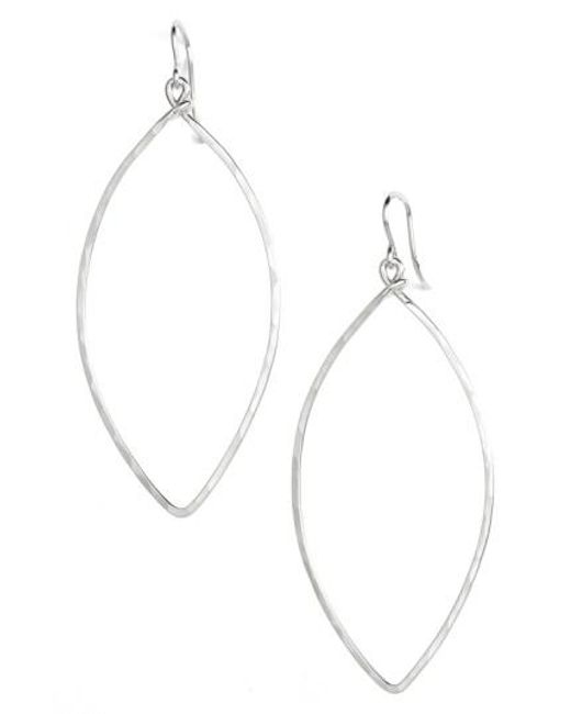 Nashelle | Metallic Ija Sterling Silver Oblong Hoop Earrings | Lyst