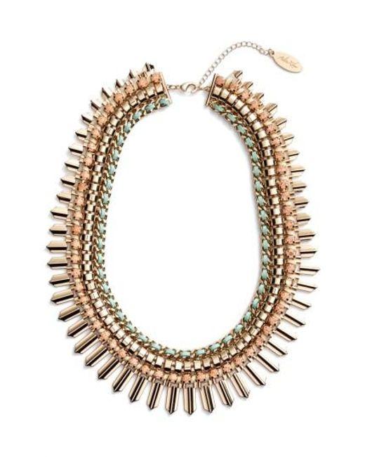 Adia Kibur - Green Crystal Statement Necklace - Lyst