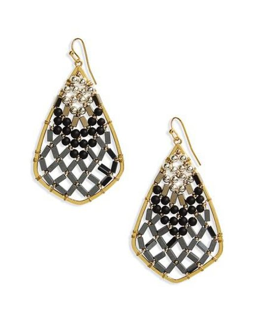 Nakamol | Black Beaded Drop Earrings | Lyst