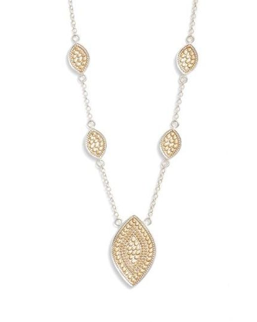 Anna Beck | Metallic Reversible Charm Necklace | Lyst
