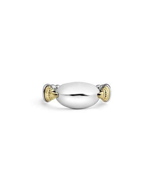 Lagos - Metallic Beloved Ellipse Ring - Lyst