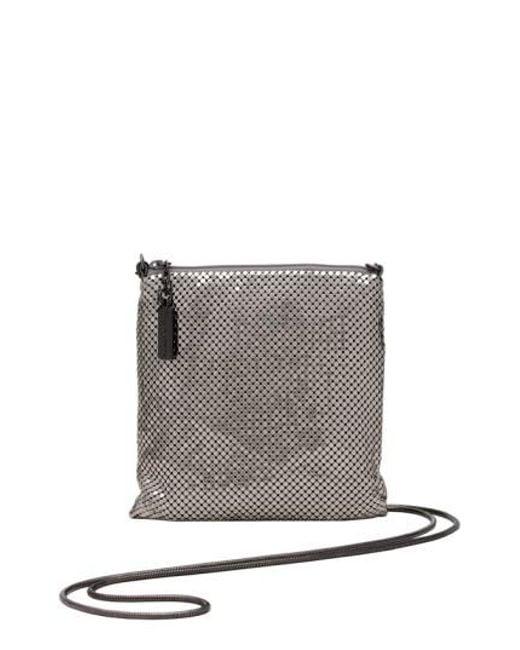 Whiting & Davis - Metallic Crossbody Bag - Lyst