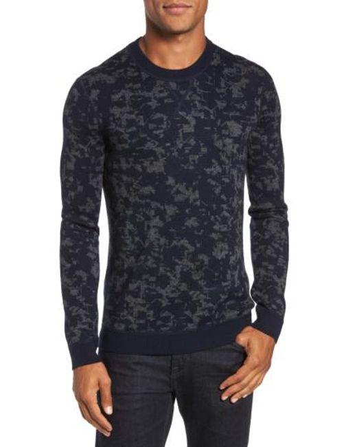 Ted Baker | Blue Gelato Jacquard Sweater for Men | Lyst