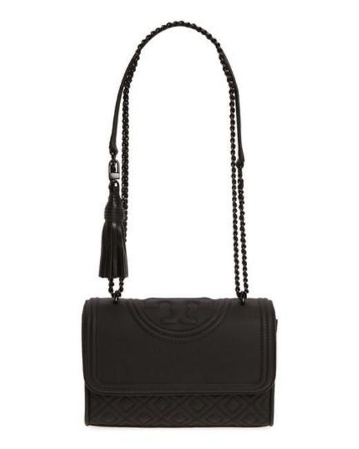 Tory Burch - Black Small Fleming Quilted Shoulder Bag - Lyst