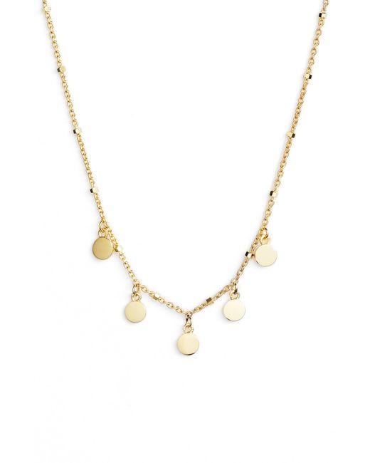 Argento Vivo - Metallic Mirror Charm Short Necklace - Lyst